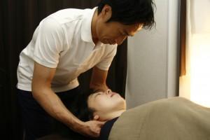 頚椎のズレの確認