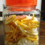 柚子シロップ作り、失敗?