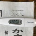 3月8日(月)の検温結果