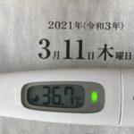 3月11日(木)の検温結果