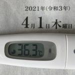 4月1日(木)の検温結果