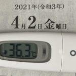 4月2日(金)の検温結果