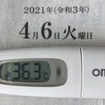 4月6日(火)の検温結果