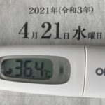 4月21日(水)の検温結果
