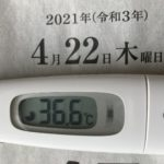 4月22日(木)の検温結果