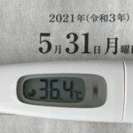 5月31日(月)の検温結果