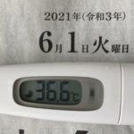6月1日(火)の検温結果