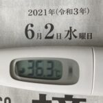 6月2日(水)の検温結果