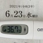 6月23日(水)の検温結果