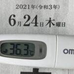 6月24日(木)の検温結果