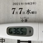 7月7日(水)の検温結果