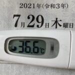 7月29日(木)の検温結果