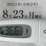 8月23日(月)の検温結果