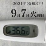 9月7日(火)の検温結果